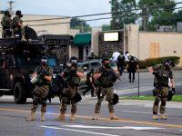 American militarized police in Ferguson USA  (Courtesy: The Intercept)