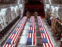 Dead bodies of US soldiers returning
