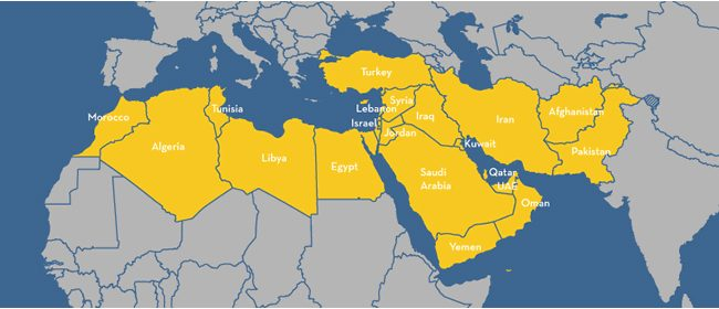The Greater Middle East region