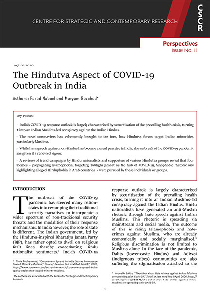 The Hindutva Aspect of COVID-19 Outbreak in India