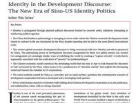 Identity in the Development Discourse: The New Era of Sino-US Identity Politics